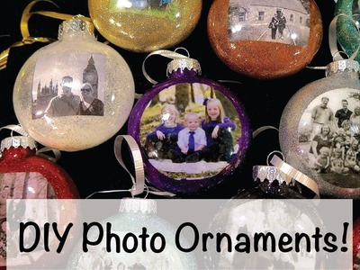 DIY Photo Ornaments