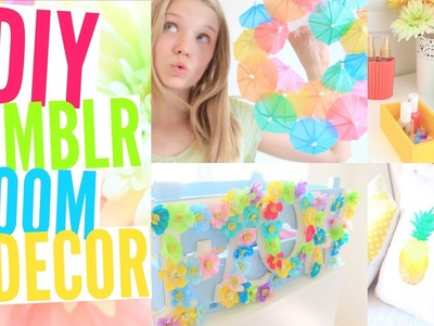 DIY Tumblr Room Decor For Summer! +Organization & GIVEAWAY!