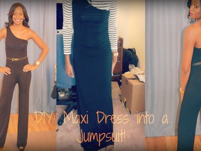 DIY | Turn a Maxi Dress into a Jumpsuit! | Fashion Friday (Sewing Tutorial)