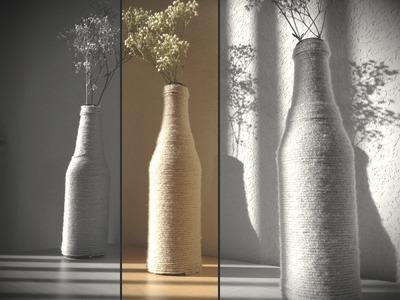 DIY: Upcycle A Glass Bottle Into Vase