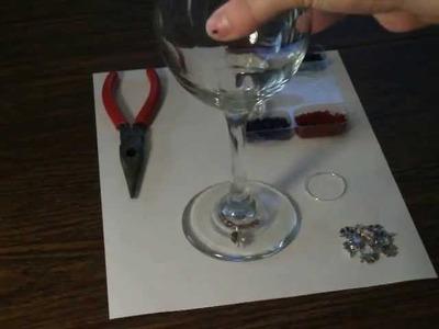 DIY Wine Glass Charm Markers