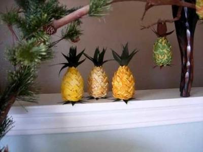 Hawaiian hand made pineapple crafts