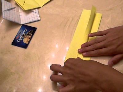 How 2 Make A Origami Paper Wallet :D