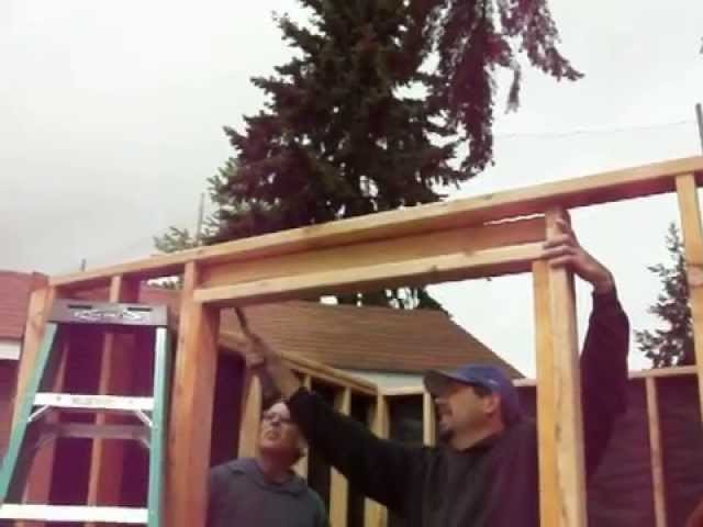 How To Build A Shed Step 18 Construction Woodworking DIY Backyard Home Improvement with Music