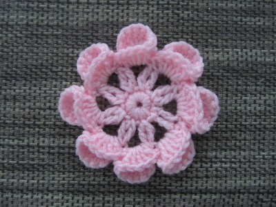 How to Crochet a Flower Pattern #8