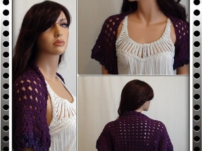 How to Crochet a Shrug - Bolero Pattern #1 by ThePatterfamily