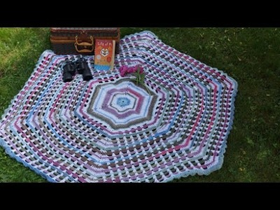 How To Crochet Garden Gate Afghan Part 4 - Final