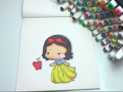 How to Draw Snow White Step by Step DIY