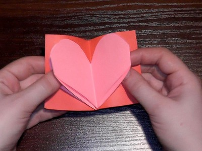 How to make a beautiful card for Valentine's Day