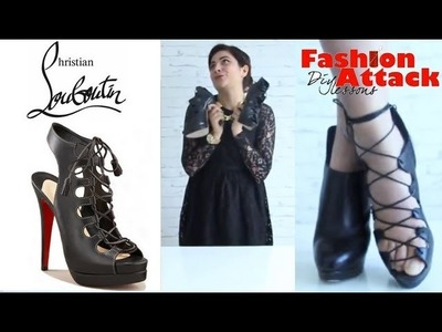 How to make DIY Christian Louboutin lace up sandals: Fashion Attack