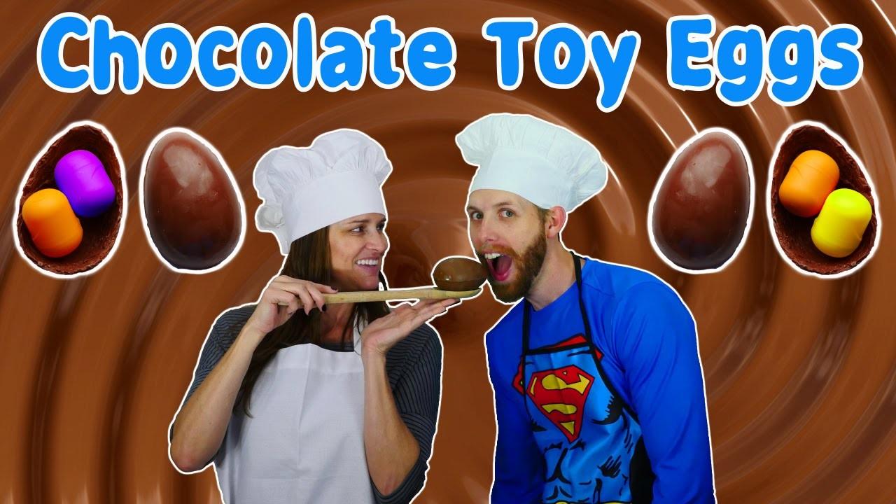 How To Make Kinder Toy Eggs DIY Chocolate Surprise Egg Toys Tutorial Huevos Sorpresa
