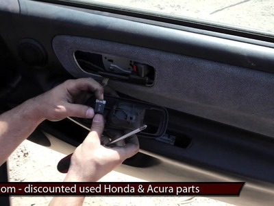 How to replace install a door panel DIY 94 95 96 97 98 99 00 01 Acura Integra Replacement Tutorial