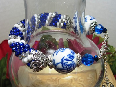If You Can Crochet A Slip Stitch - You Can Make This Beautiful Tubular Bead Crochet Bracelet