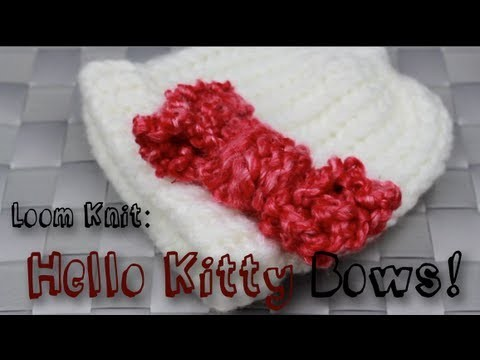 Loom Knit: Hello Kitty Bows!