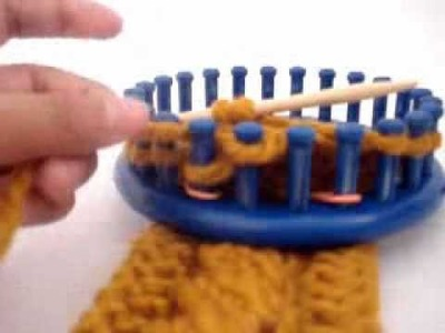 Loom Knitting: 4 Stitch Left Cross Cable