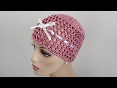 Mesh Crochet Beanie - Mesh Crochet Hat