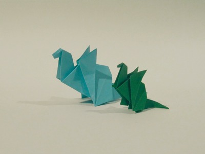 Origami Dragon - Easy Origami Tutorial - How to make an easy origami dragon
