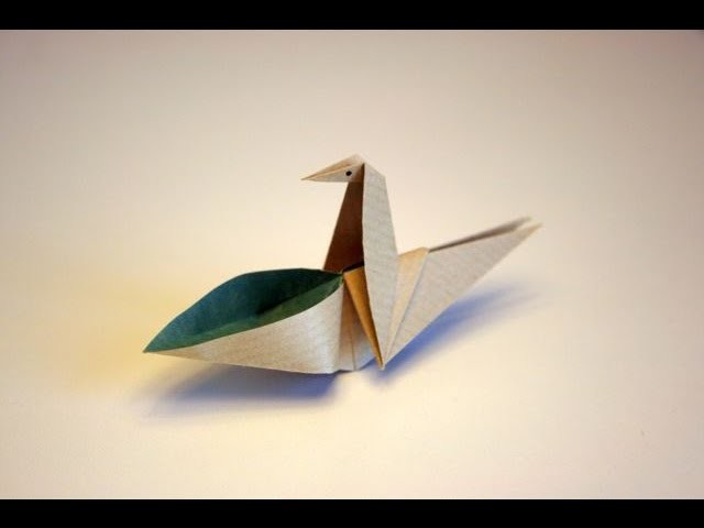 Origami tutorial - Drinking bird