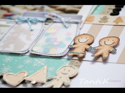 "Scrapbooking process: ""Cookies"" Part 1. Homemade Embellishments."