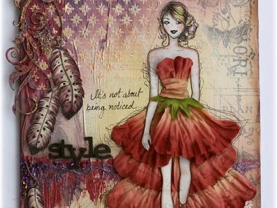 Style  Mixed Media Canvas Tutorial