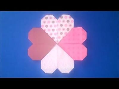SUPER SIMPLE Origami HEART Bookmark