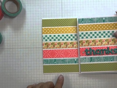 Thanks Washi Tape Card - Free Project of the Week