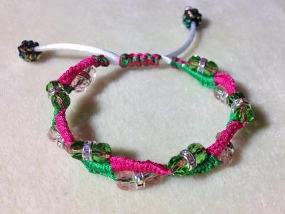 (Tutorial) Beaded Macrame Bracelet (Video 32)