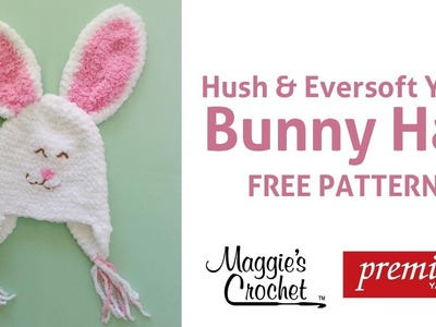 Zookeeper Bunny Hat Free Crochet Pattern - Right Handed