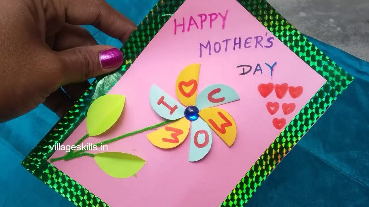2 Diy Easy Mothers Day Special Greeting Cards Making Ideashand Made
