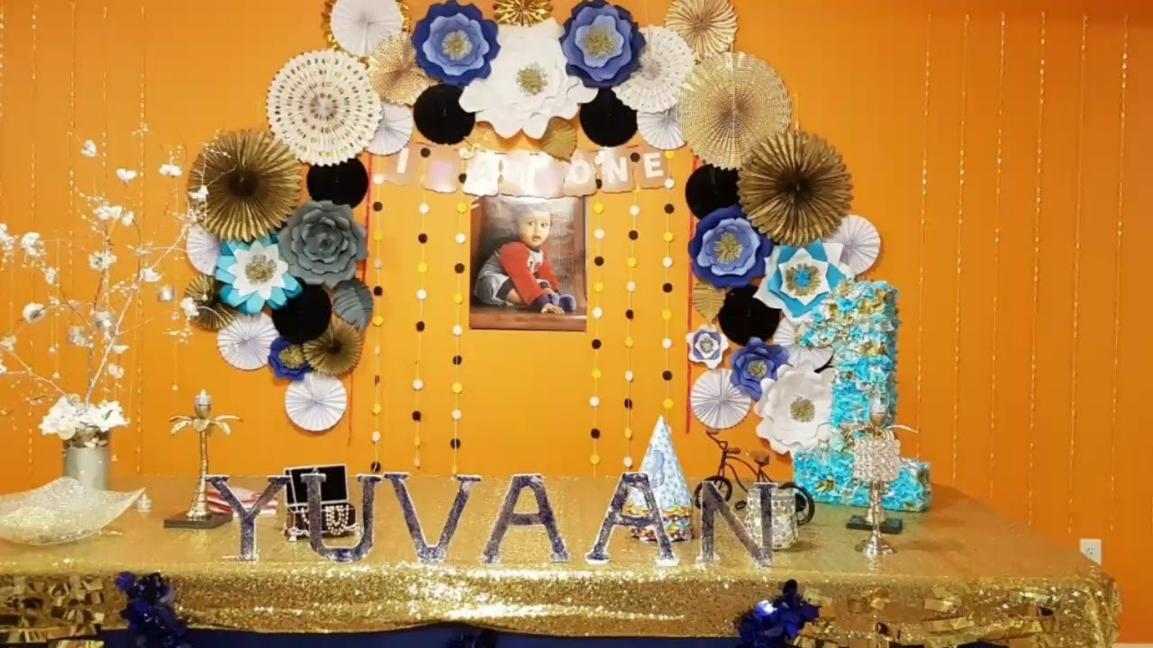 Baby First Birthday Decoration Ideas At Home Diy
