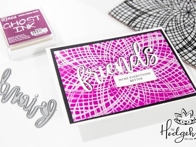 Cardmaking Magic Technique with Rinea Foil Paper and Ghost Ink