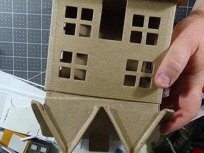 CRAFT STORE PAPER MACHE HOUSE PREP