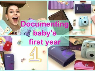 DIY BABY MEMORY BOOK | 4 FUN ways to create baby's first year album