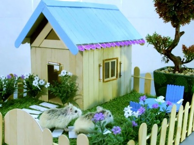 DIY Ice Cream Stick Miniature House for Tiny Hamsters