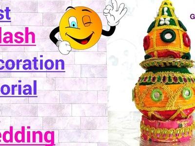 DIY | Kalash decoration for Wedding | Matki decoration | Kalash decoration at home