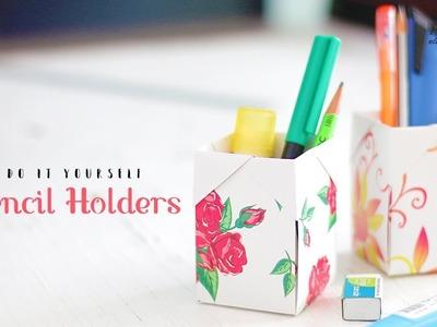 DIY Pencil.Pen Holders | Paper Craft Ideas | Craft For Kids