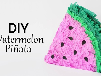 DIY Summer Party Décor: Watermelon Piñata