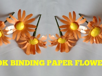 Flower making with laminated school book binding paper scraps | best of waste