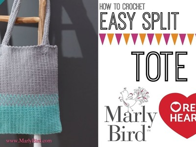 How to Crochet Easy Split Tote [Right Handed]