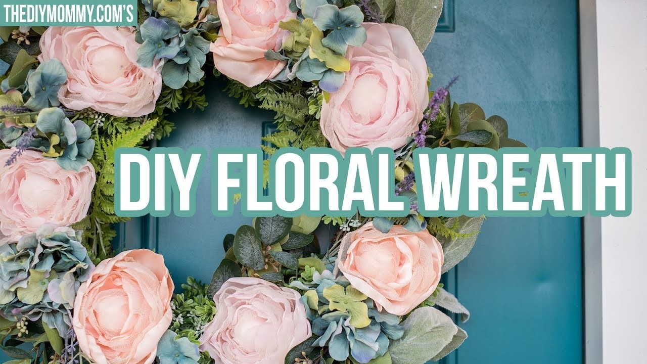 MAY FLOWERS ???? DIY Floral Wreath | French Country Farmhouse Decor