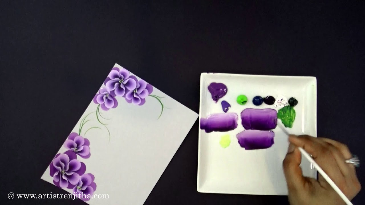 Mother's Day Greeting card  | Quick and easy Flower | Tear drop floral | DIY