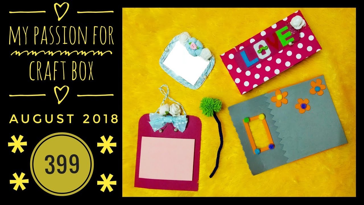 My Passion for Craft box August 2018 |399|Personalized |Unboxing and Review