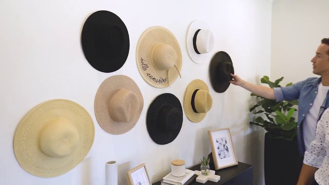 Rock a DIY Hat Wall at Home for Next to Nothing