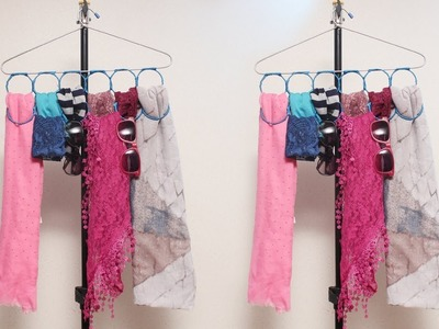 Scarves And Multiple Accessories Hangers From Bangles - DIY Crafts