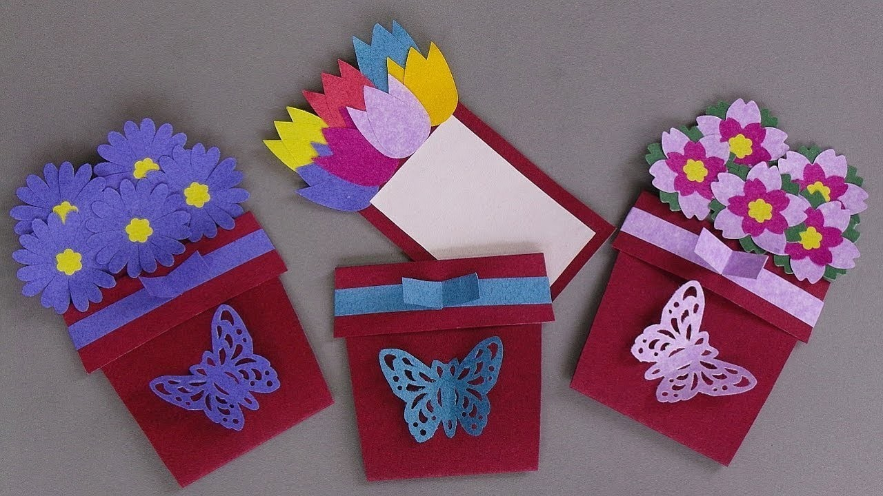 special diy mothers day card handmade diy flower pot card