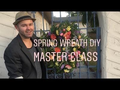 Summer Wreath DIY  2018 . Dollar Tree Wreath Tutorial  (Easy Steps)