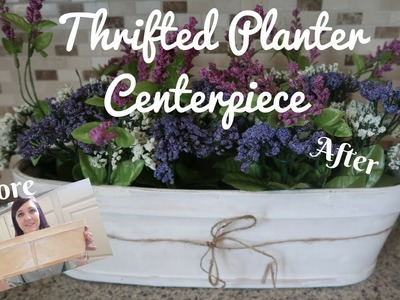 THRIFTED PLANTER CENTERPIECE |THRIFT STORE DIY DECOR | THRIFTY FINDS