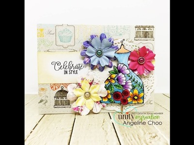 Unity Quick Tip: Vintage Inspired Card with Paper Flower Accents