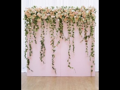 Different Idea of decorate arch with flower and leaves ( tutorial)