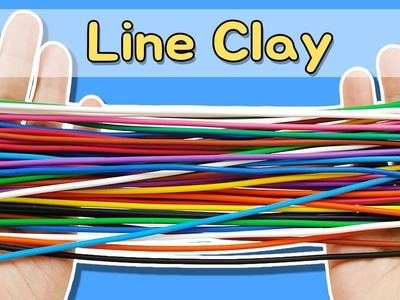 DIY) How to make LINE FRIENDS with Line Clay.